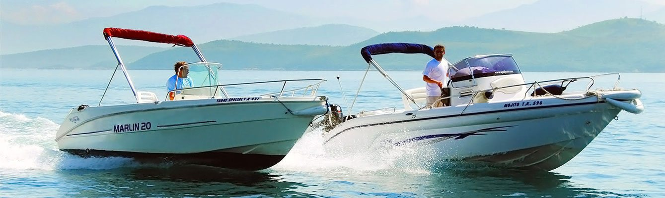 Agni Boats Rental Corfu | Two Speed Boats